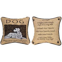 Manual Woodworkers ADVICE FROM A DOG MULTI COLOR Throw Pillow