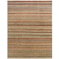 Herat Oriental Afghan Hand-knotted Vegetable Dye Gabbeh Wool Rug (8'6 x 10'10)