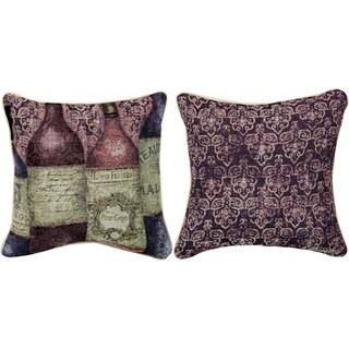 Manual Woodworkers SANCTUARY WINE 5 BOTTLES MULTI COLOR Throw Pillow