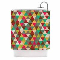 KESS InHouse KESS Original Autumn Triangle Spectrum Multicolor Geometric Shower Curtain (69x70)