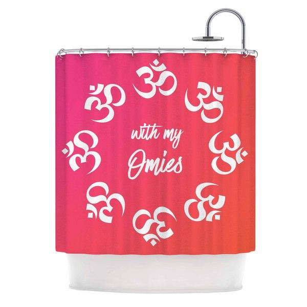 KESS InHouse KESS Original With My Omies Pink Coral Magenta Shower Curtain (69x70)