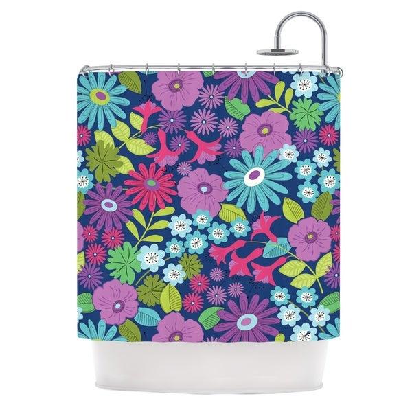 KESS InHouse Jacqueline Milton Lula - Aqua Purple Blue Shower Curtain (69x70)