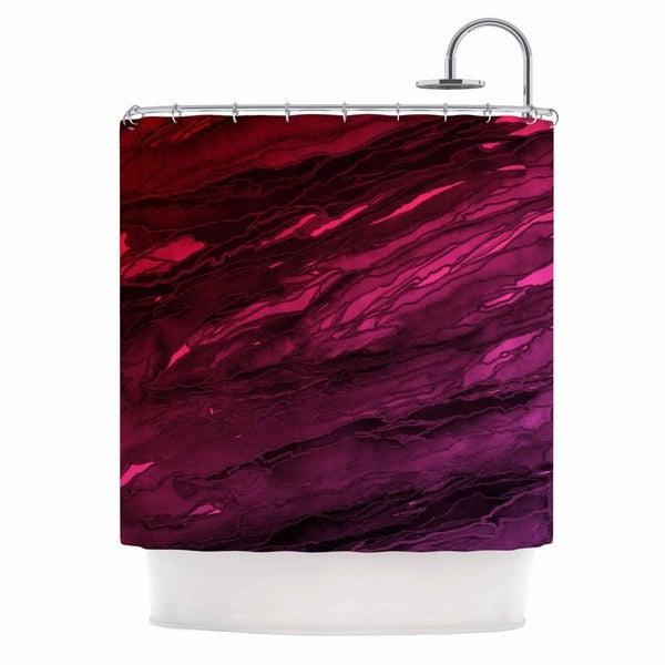 KESS InHouse Ebi Emporium Agate Magic - Red Pink Plum Deep Purple Shower Curtain (69x70)