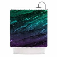 KESS InHouse Ebi Emporium Agate Magic - Green Plum Ombre Aqua Purple Shower Curtain (69x70)
