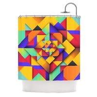 KESS InHouse Danny Ivan Shapes II Geometric Shower Curtain (69x70)