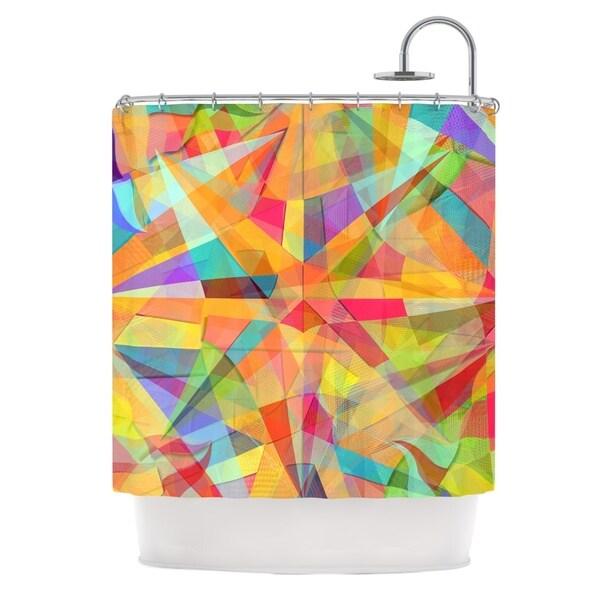 KESS InHouse Danny Ivan Star Geometric Multicolor Shower Curtain (69x70)