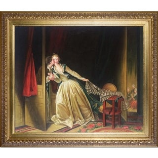 Jean-Honore Fragonard 'The Stolen Kiss' Hand Painted Oil Reproduction