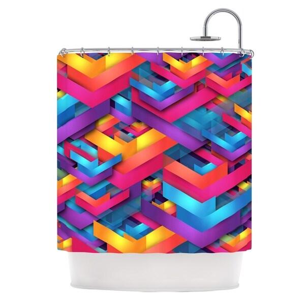 KESS InHouse Danny Ivan Own Luck Pink Purple Shower Curtain (69x70)
