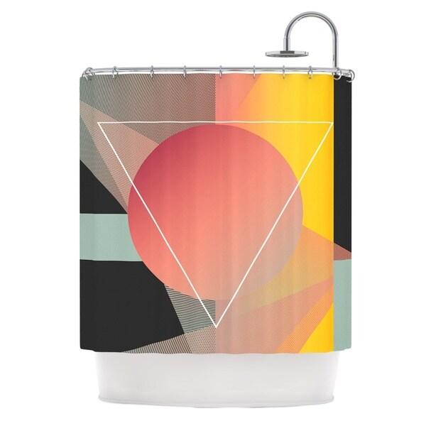 KESS InHouse Danny Ivan Objectum Pink Abstract Shower Curtain (69x70)