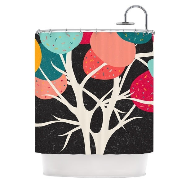 KESS InHouse Danny Ivan Lovely Tree Branches Shower Curtain (69x70)