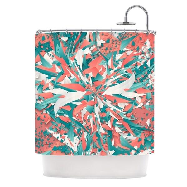 KESS InHouse Danny Ivan Like Explosion Pink Teal Shower Curtain (69x70)