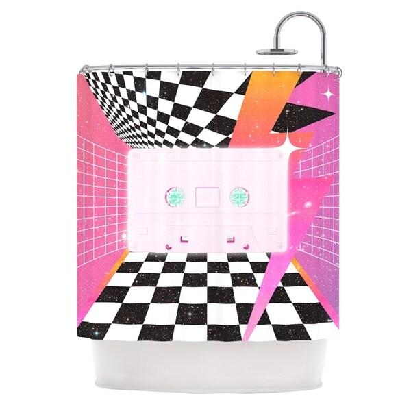 KESS InHouse Danny Ivan K7 Pink Casette Shower Curtain (69x70)