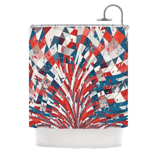 KESS InHouse Danny Ivan Feel Again Blue Red Shower Curtain (69x70)