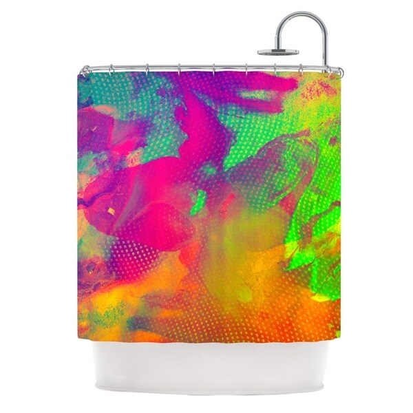 KESS InHouse Danny Ivan Austra Pink Green Shower Curtain (69x70)