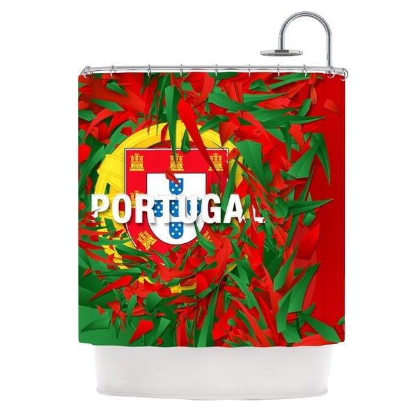 KESS InHouse Danny Ivan Portugal World Cup Shower Curtain (69x70)