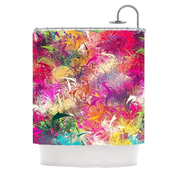 KESS InHouse Danny Ivan Splash Rainbow Abstract Shower Curtain (69x70)