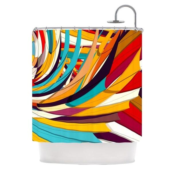 KESS InHouse Danny Ivan Demy World Orange Yellow Shower Curtain (69x70)