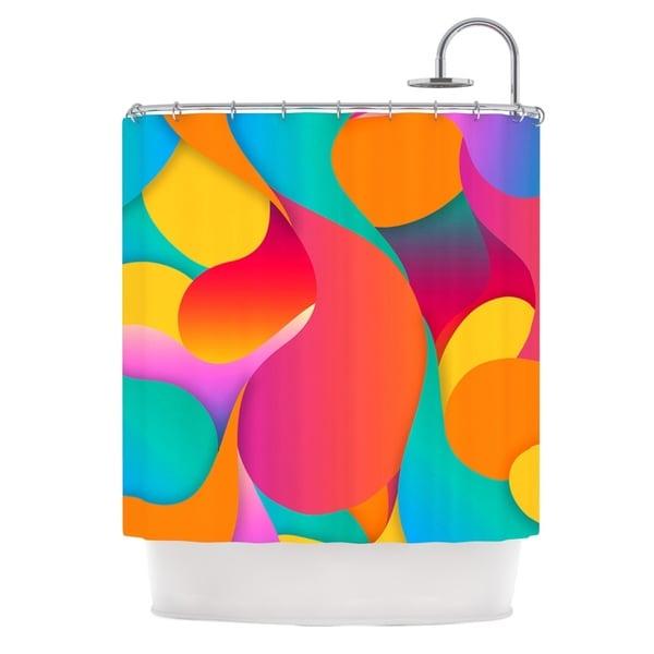 KESS InHouse Danny Ivan Still Life Warm Abstract Shower Curtain (69x70)