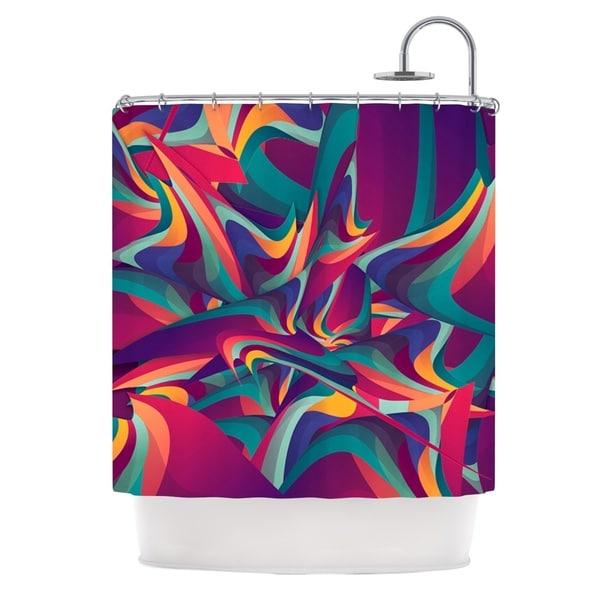 KESS InHouse Danny Ivan Wrong Past Teal Purple Shower Curtain (69x70)