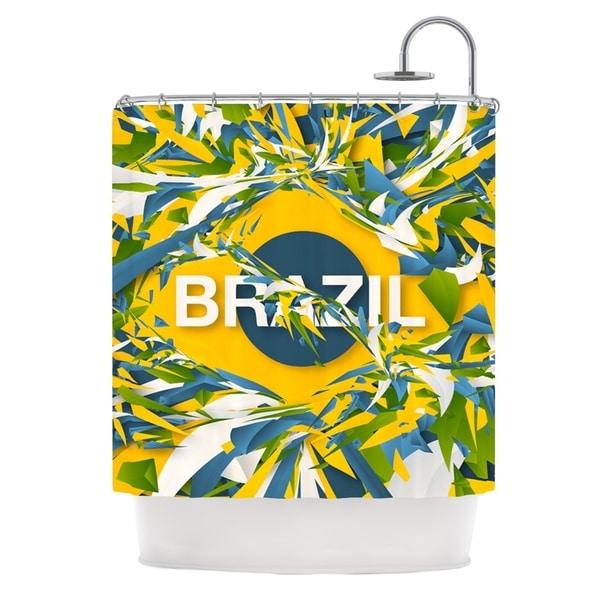 KESS InHouse Danny Ivan Brazil World Cup Shower Curtain (69x70)