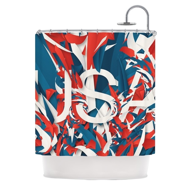 KESS InHouse Danny Ivan USA World Cup Shower Curtain (69x70)