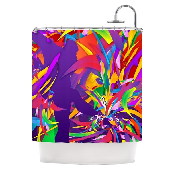 KESS InHouse Danny Ivan Shooting Rainbow Purple Shower Curtain (69x70)