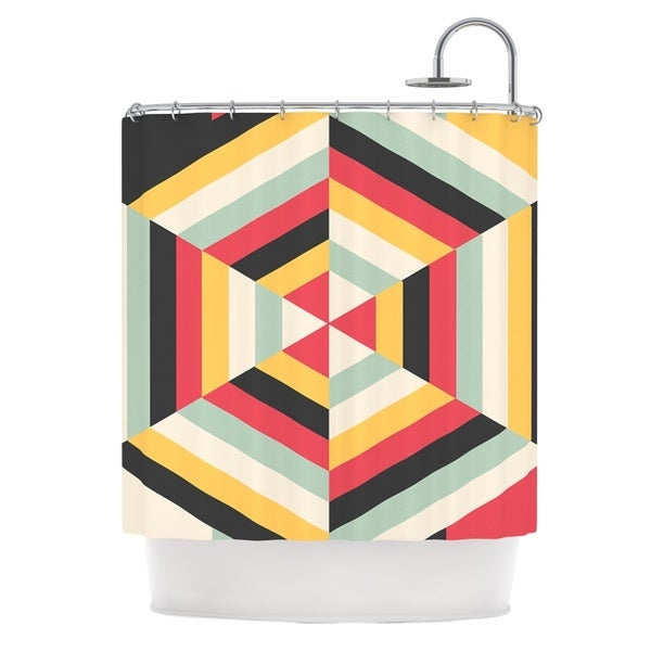 KESS InHouse Danny Ivan On Call Red Yellow Shower Curtain (69x70)
