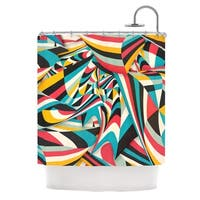 KESS InHouse Danny Ivan Don't Come Close Abstract Blue Shower Curtain (69x70)