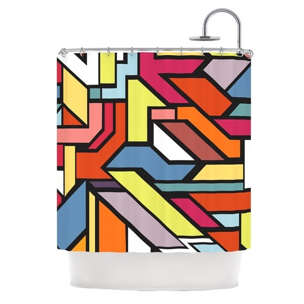 KESS InHouse Danny Ivan Abstract Shapes Shower Curtain (69x70)