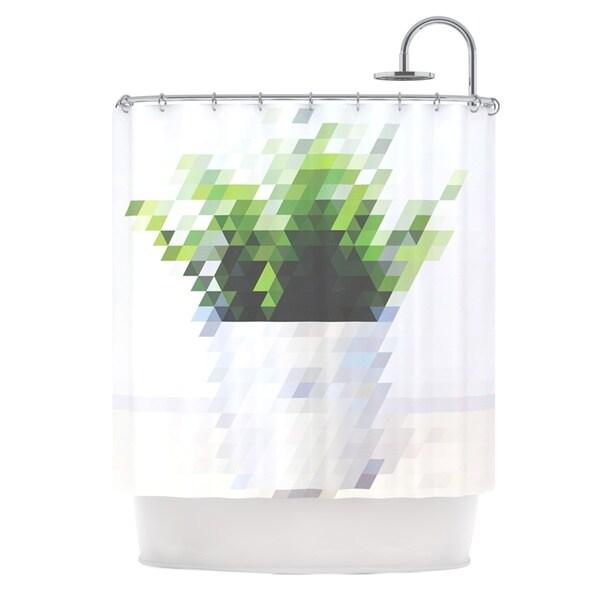 KESS InHouse Danny Ivan Plant Shower Curtain (69x70)