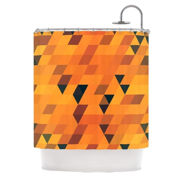 KESS InHouse Danny Ivan Gold Pattern Shower Curtain (69x70)