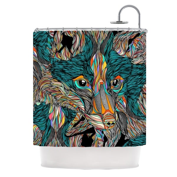 KESS InHouse Danny Ivan Fox Shower Curtain (69x70)