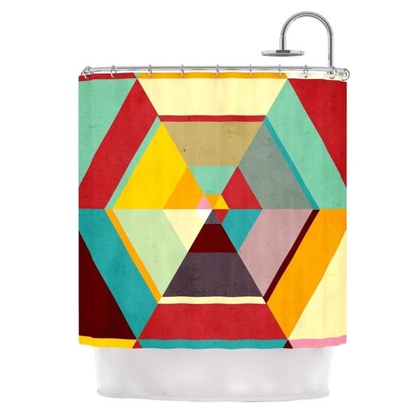 KESS InHouse Danny Ivan Color Mess Shower Curtain (69x70)