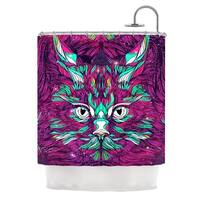 KESS InHouse Danny Ivan Space Cat Shower Curtain (69x70)