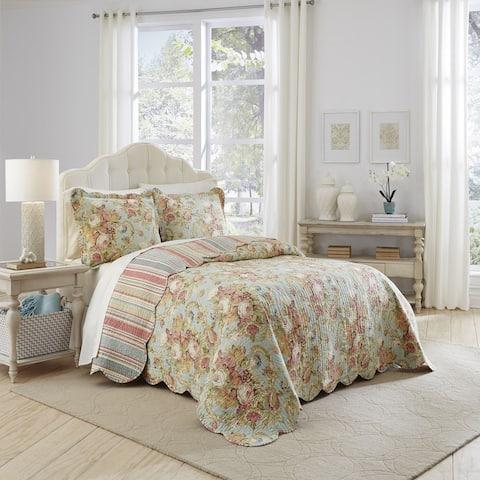 Waverly Spring Bling 3-piece Floral Bedspread Set
