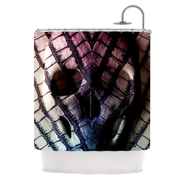 KESS InHouse Danny Ivan Skull Dark Purple Shower Curtain (69x70)