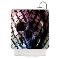 KESS InHouse Danny Ivan Skull Dark Purple Shower Curtain (69x70)