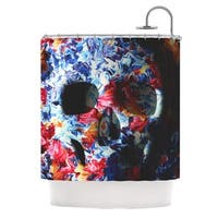 KESS InHouse Danny Ivan Skull Light Blue Pink Shower Curtain (69x70)