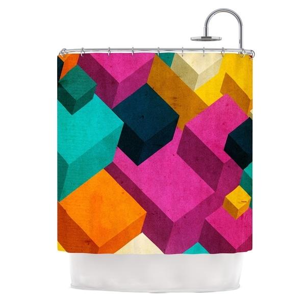 KESS InHouse Danny Ivan Happy Cubes Shower Curtain (69x70)