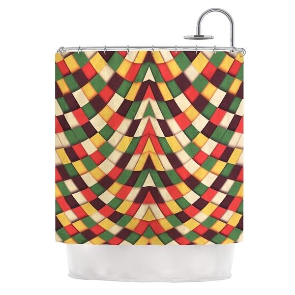 KESS InHouse Danny Ivan Rastafarian Tile Shower Curtain (69x70)
