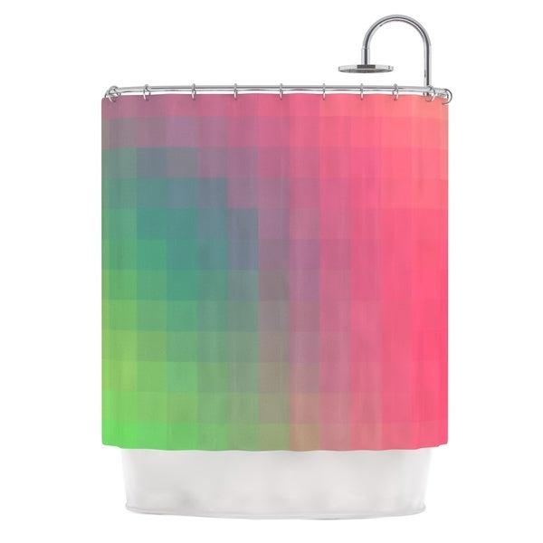 KESS InHouse Danny Ivan Gradient Print Shower Curtain (69x70)
