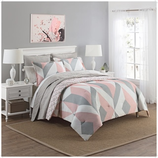 Marble Hill Lena Reversible 100% cotton 3-Piece Comforter Set
