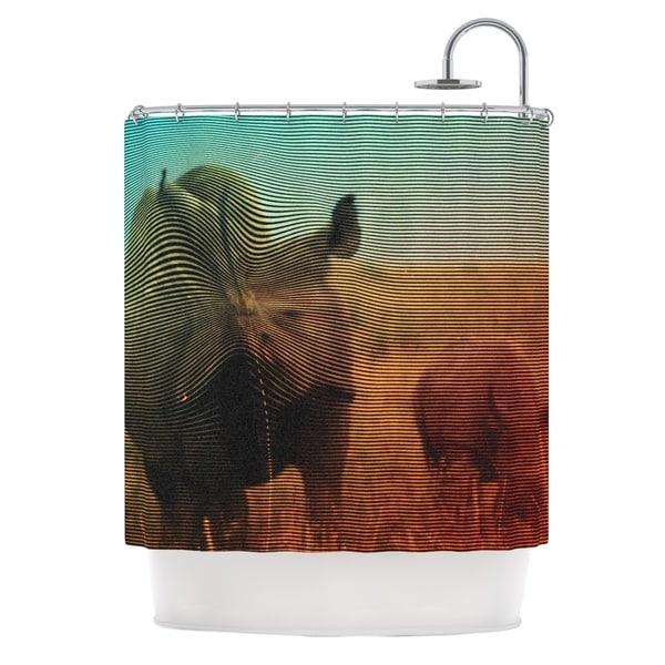 "KESS InHouse Danny Ivan ""Abstract Rhino"" Shower Curtain (69x70) - 69 x 70"