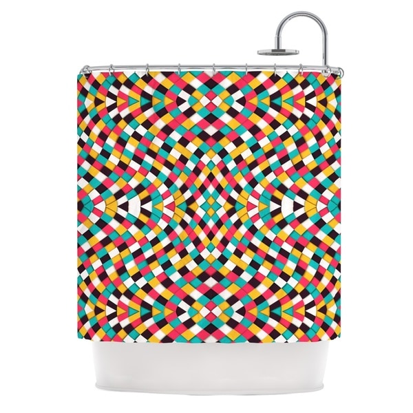 KESS InHouse Danny Ivan Retro Grade Shower Curtain (69x70)