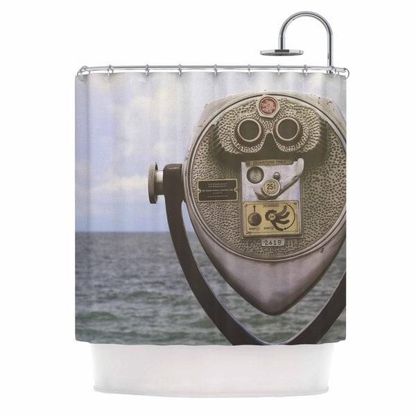 KESS InHouse Angie Turner Ocean View Blue Gray Shower Curtain (69x70)