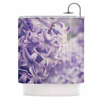 KESS InHouse Angie Turner Lavender Dreams Purple Lilac Shower Curtain (69x70)