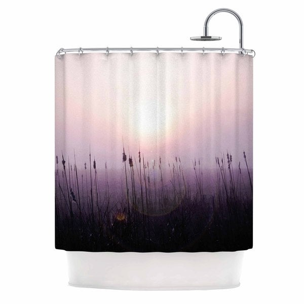Shop Kess Inhouse Angie Turner Sunrise Cattails Purple Gold Shower