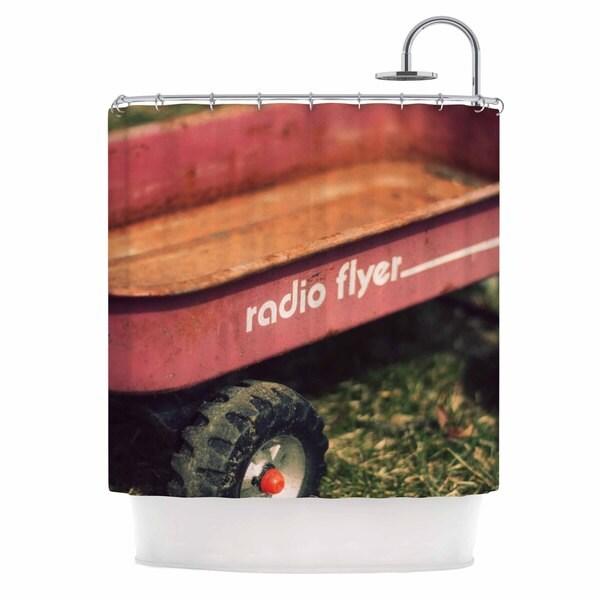 KESS InHouse Angie Turner Radio Flyer Red White Shower Curtain (69x70)