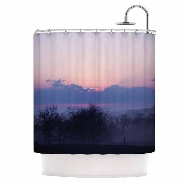 KESS InHouse Angie Turner Purple Sunrise Blue Pink Shower Curtain (69x70)
