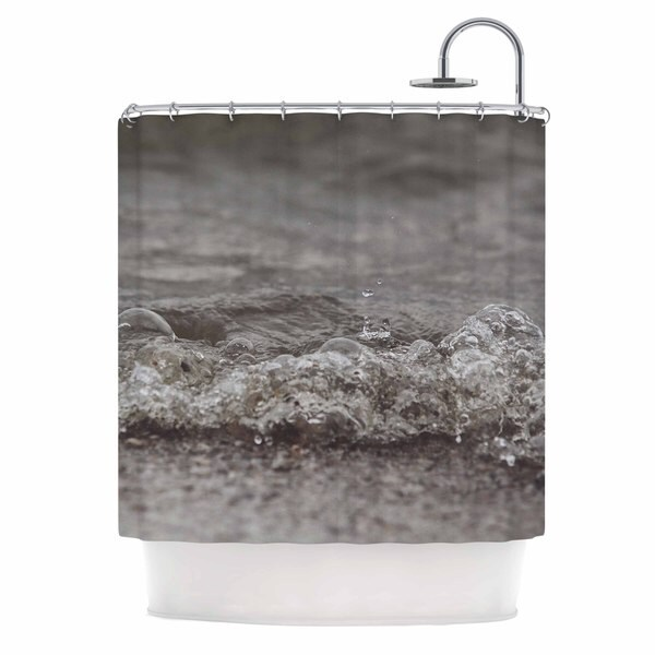 KESS InHouse Angie Turner Beach Bubbles Blue Coastal Shower Curtain (69x70)